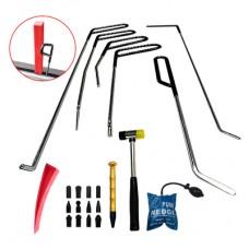 PDR набор  крючков для удаления вмятин без покраски и рихтовки авто 19 предметов
