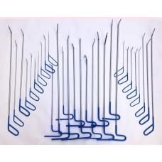 PDR набор из 30 крючков,клюшек для удаления вмятин без покраски и рихтовки авто